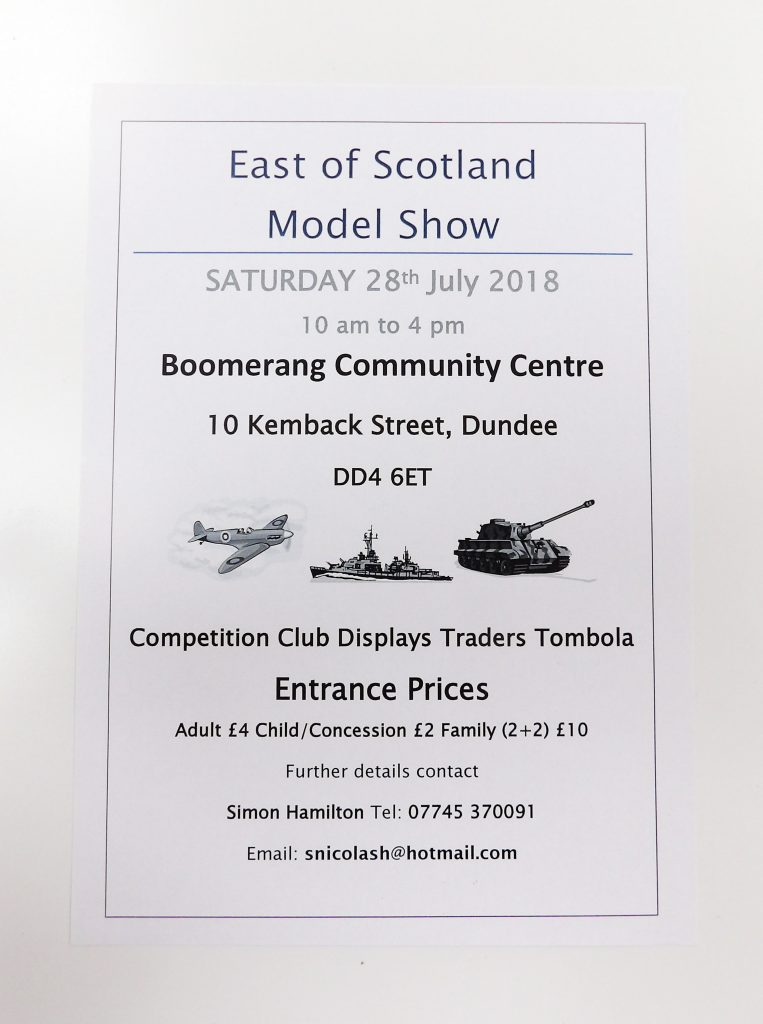 East of Scotland Model Show 2018 Dundee