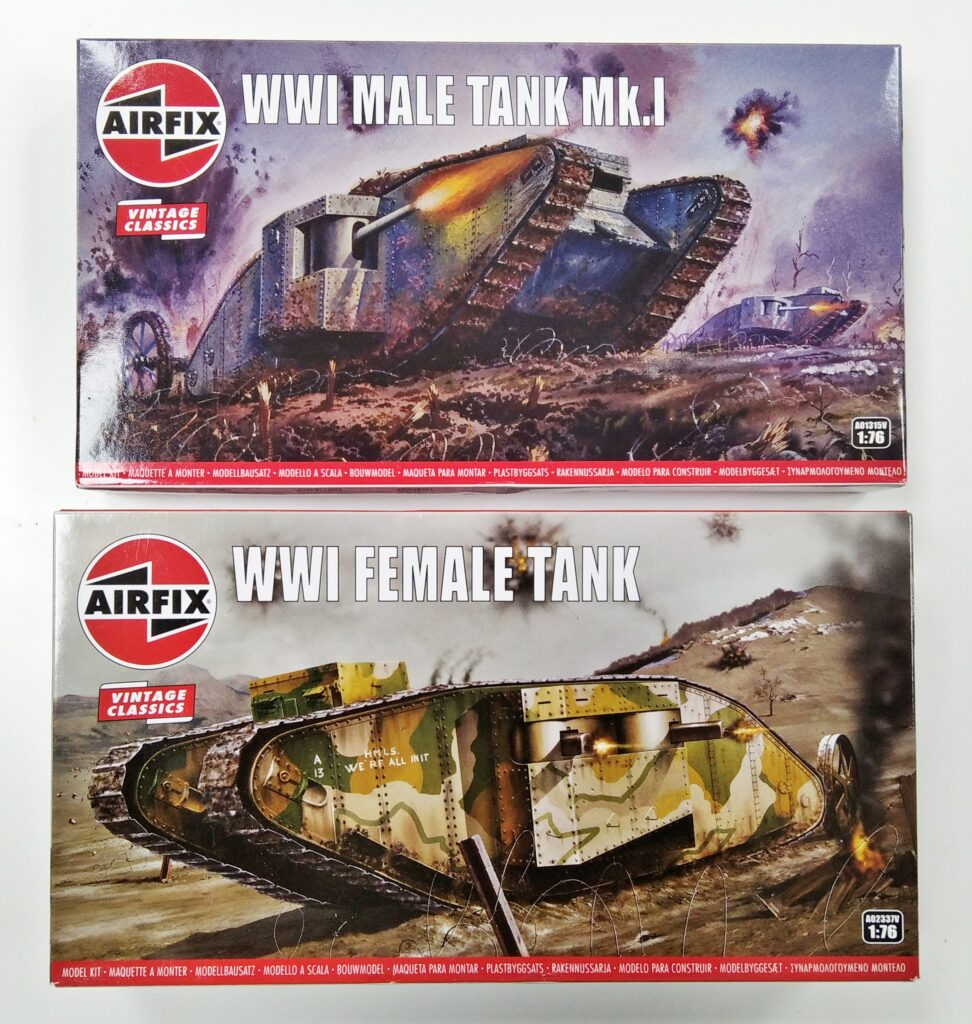 Airfix WWI Tank Male Female Model Shop Hobby Dundee Angus